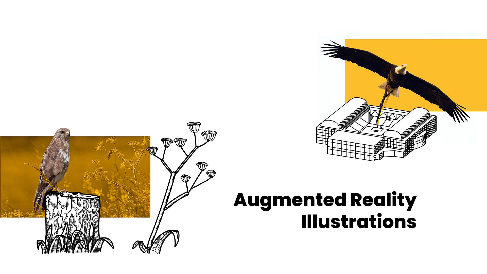 Brochure augmented illustratie